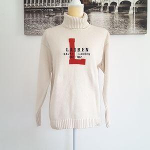 Lauren Ralph Lauren turtleneck cotton sweater